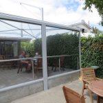 durchsichtiger Wetterschutz für Terrassen