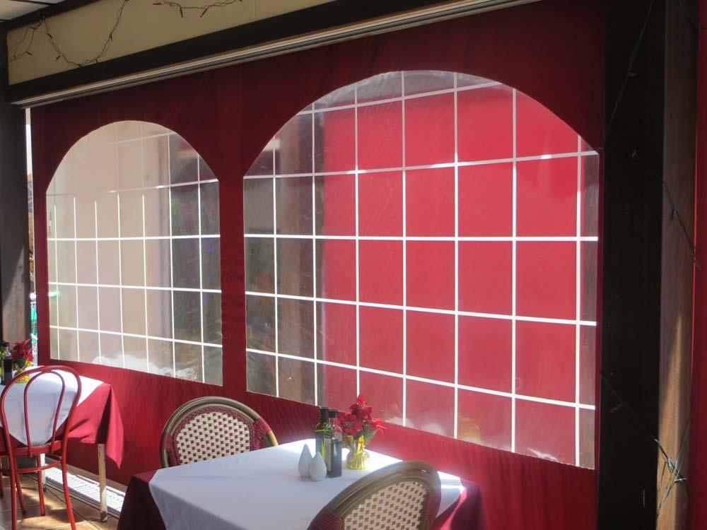 gebogene Folienfenster