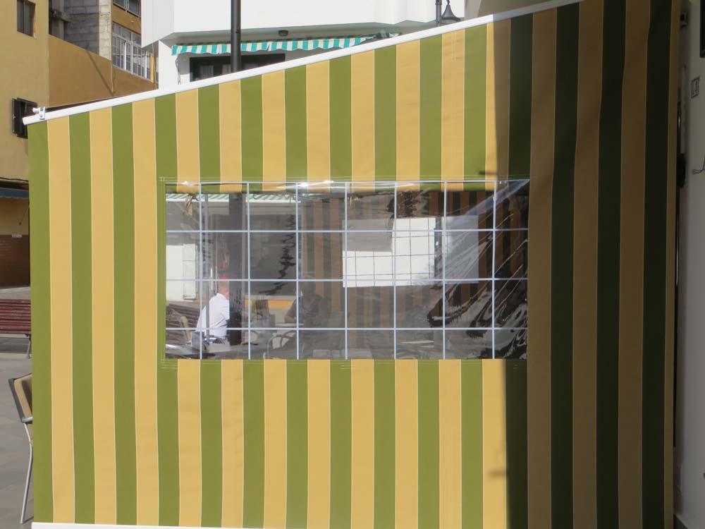 schräge Folienfensterplane
