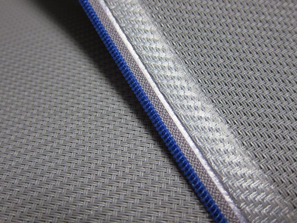 verschweißter Reißverschluss für Seitenschienen